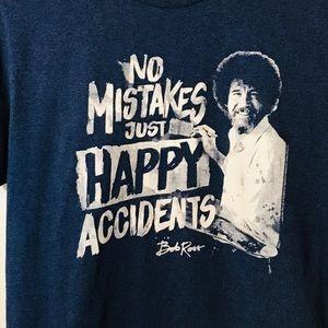 3d6a90d9fba9 bob ross Tops - Bob Ross Happy Accidents T-Shirt - Size Large